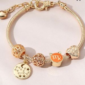 Zodiac Sign Gold Charm Bracelet